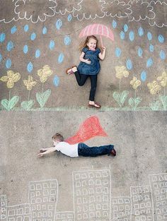 chalks, kids and camera!