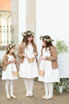Cute flower girls: http://www.stylemepretty.com/little-black-book-blog/2015/04/20/romantic-land-to-sea-destination-wedding/   Photography: Branco Prata - http://www.brancoprata.com/
