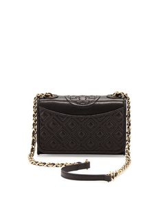 a40ae322efa Tory Burch Fleming Quilted Mini Flap Shoulder Bag