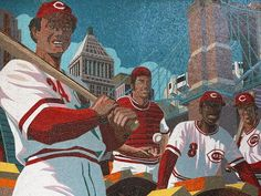 "Great American Ball Park is a surprising gallery. Photo: The ""Great Eight"" mosaic mural at the main entrance of Great American Ball Park celebrates the Big Red Machine. Mark Riedy was the illustrative artist, and the project designer was FRCH Design. The Enquirer/Meg Vogel"