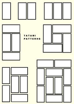 Tatami / layout - based off Golden Ratio                                                                                                                                                                                 More
