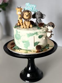 Jungle Theme Cakes, Themed Cakes, Cake Decorating, Desserts, Animals, Food, Tailgate Desserts, Animales, Deserts