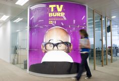 Large format printing of Lambda Duratrans for ITV offices. #largeformatprint #largeformatprinting #lfp