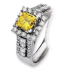 14kw Emma Grace Princess Cultured Diamond Ring - SalmaJewelry.com  $9,288.38