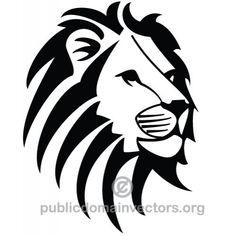 León vector de la imagen   Vectores de dominio público