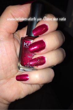 #nailart ça c'est chic ! - Belle des nails #nail #nails #manicure #glitter #paillettes #opi #kiko #red #rouge