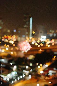 bokeh of city lights by Lia & Fahad | Stocksy United