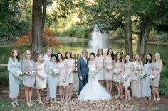 Neutral wedding party / photo by Sugar Photography @Jenn L Little