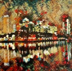 Canary Wharf Daffodils, Countryside, Artsy, Painting, Painting Art, Paintings, Painted Canvas, Drawings