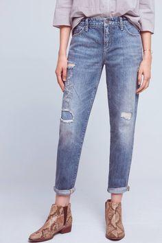 Slide View: 2: Pilcro Hyphen High-Rise Relaxed Boyfriend Jeans