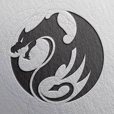 New tattoo geometric art graphics 39 Ideas Logo D'art, Art Logo, Design Dragon, Cool Symbols, Inspiration Logo Design, Dragons, Arte Tribal, Dragon Artwork, Dragon Tattoo Designs