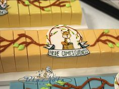 """""""Here Comes Cuteness"""" woodland animal themed cake bars Cake Bars, Cake Shop, Woodland Animals, Austin Texas, Custom Cakes, Themed Cakes, Bakery, Note, Desserts"""