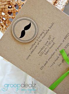 mustache bash 1st bday invite idea