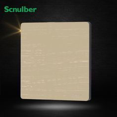 86mm luxury champagne metal wall cover blank switch plate