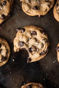 The Best Brown Butter Chocolate Chip Cookies ever. These are my go-to cookie. Every time I make them people go back for seconds & ALWAYS ask for the recipe!