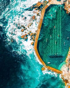 There's really nothing more spectacular than the ocean. Gabriel Scanu's stunning aerial shots of coastlines and sea waves just goes to show the impressive magnitude of the ocean landscape. The young Australian photographer travels from country to country, Fotografia Drone, Aerial Photography, Travel Photography, Sydney Photography, Voyager C'est Vivre, Places To Travel, Places To Go, Bronte Beach, Sydney Beaches