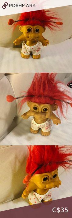 "Troll Baby 1992,,Terra Nova. Ganz I also have this baby troll collected from 1992,,Terra Nova Doll 9"" tall body is hard plastic Terra Nova Ganz Toys Dolls & Accessories Doll Accessories, Doll Toys, Troll, Pink White, Kids Toys, Nova, Kids Shop, Teddy Bear, Plastic"
