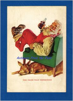 1958 Magazine Ad Coca Cola Santa Claus by Antiquesfromthepast
