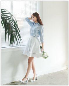 All Korean Fashion items up to 70% OFF! CHERRYKOKO - Lace-Trim A-Line Mini Skirt #miniskirt #laceskirt #koreanfashion