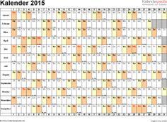 Vorlage 1: Kalender 2017 für Baden-Württemberg als Excel-Vorlagen ...