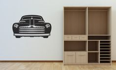 Huge Hot Rod Roadster Man Cave Vinyl Wall Art  by StreamlineDesign, $24.95