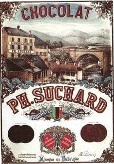 Affiche publicitaire pour Suchard de 1862