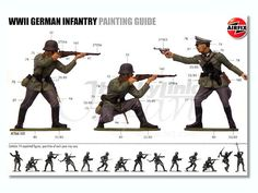 Painting guide from an old Airfix kit.