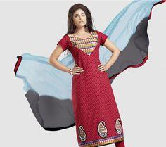 e9d84a0866 Maroon and Black Cotton Designer Dress Material D No. 6012a Price: $82  Details: