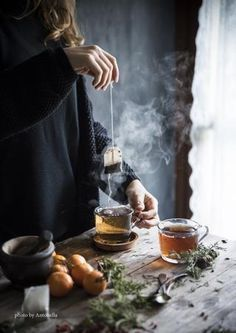 beautiful soft light and steam from a tea