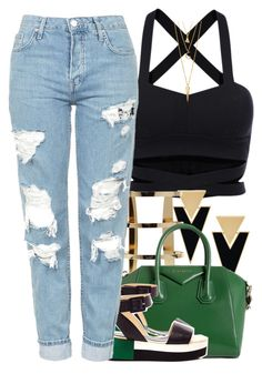 """Saturday"" by ashcake-wilson ❤ liked on Polyvore featuring Yves Saint Laurent, Givenchy, Palomitas by Paloma Barceló, Topshop and BERRICLE"