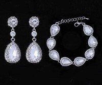 Beautiful Bridal tear Drop Earrings & by sayidocreationbridal