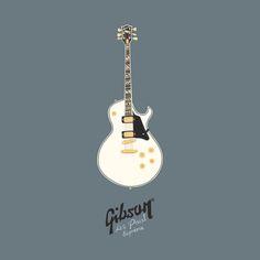 """Nouvelle série """"les instruments de musique"""", 1ère illustration : une guitare Gibson® Les Paul Supreme. © Séverine Smieszkol * SEVEUSMZ - tous droits réservés"""