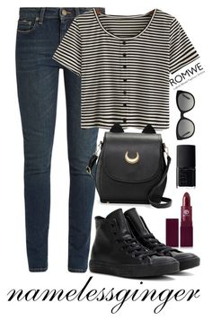 """""""untitled #515"""" by namelessginger ❤ liked on Polyvore featuring Yves Saint Laurent, Lipstick Queen, NARS Cosmetics, Converse and Burberry"""