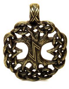 Amazon.com : Pendant : YGGDRASIL / TREE OF LIFE / EIHWAZ RUNE : Amulet / Talisman : Necklace / keychain : Everything Else