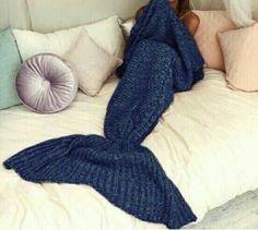 Navy mermaid blanket