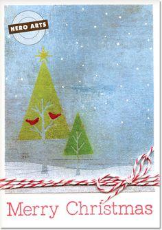 Hero Arts Cardmaking Idea: Merry!
