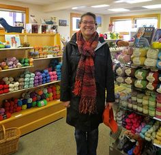 Here is Elena in her Classic Shades Big Time scarf. Yarn Projects, Big Time, Hearts, Shades, Warm, Gallery, Classic, Color, Derby
