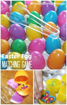 Simple DIY Easter egg games for kids! Our early learning games for math, memory and matching make learning fun. Easy and inexpensive Easter egg games.