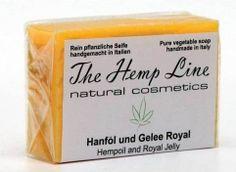 Hanf-Seife Hanföl und Gelee Royal - The Hemp Line - natural cosmetics #hanf #hemp #eco #bio #organic