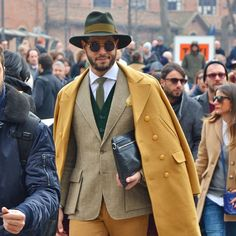 Street Style found at Pitti Uomo 2015 in Florence. See all the looks on and off the runway #pittiuomo http://seen.co/event/pitti-uomo-2015--2015-4464#