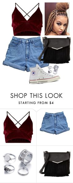 A fashion look from August 2016 featuring bralet tops, high-waisted denim  shorts and white cap. e993d3abc5