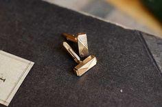 Vintage French golden cufflinks