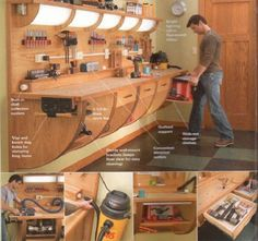 Cool Work Bench. More Woodworking Projects on www.woodworkerz.com