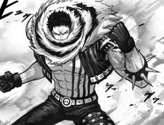 the newest badass character on One Piece. Second son of the Yonko Big mom, Charlotte linlin. one of the 3 (formerly sweet commanders of the big mom p. Zoro One Piece, One Piece Ace, One Piece Fanart, Manga Anime, Anime Dad, Akuma No Mi, Big Mom Pirates, One Piece Tattoos, Black And White One Piece