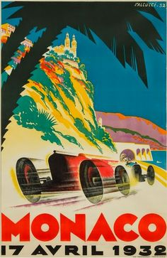 1932 Monaco poster by Robert Falcucci