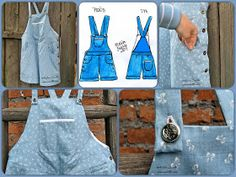 Dungarees for summer / Desinger / Pattern / Sewing by Iwakki
