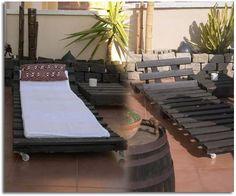muebles para terraza y jardín realizados con palets