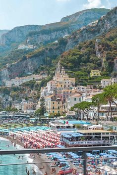 The beach in Amalfi | 34 Pictures That'll Make You Want to Visit the Amalfi Coast ASAP