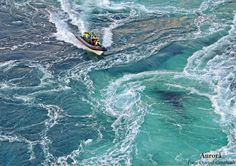 Saltstraumen in Norway, the strongest maelstrom/tidal current in the world. - Imgur