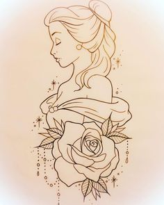 drawing drawing disney Tattoo Disney Pixar Belle 25 T Pencil Art Drawings, Art Drawings Sketches, Cartoon Drawings, Easy Drawings, Art Sketches, Tattoo Sketches, Tattoo Drawings Tumblr, Simple Disney Drawings, Drawing Tattoos